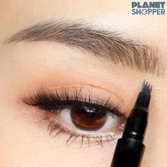 eyeliner for almond eyes natural ~ eyeliner for almond eyes ; eyeliner for almond eyes natural ; eyeliner for almond eyes winged ; eyeliner for almond eyes tutorials Eyebrow Stain, Eyebrow Tools, Eyebrow Makeup Tips, Eyebrow Pencil, Eye Makeup, Makeup Hacks, Makeup Eyebrows, Eye Brows, Makeup Tutorials