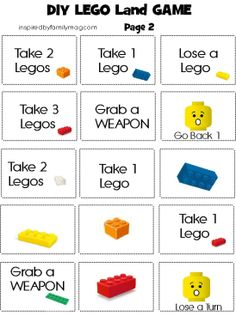 DIY Lego Game. modify into a counting game