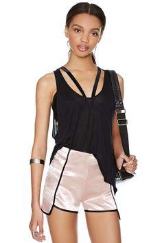 Cute retro Pink Slip Shorts | Shop 60% Off and Up at Nasty Gal $16.80