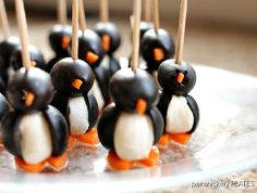 Persnickety Plates: Olive Penguins