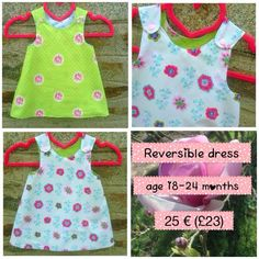 A personal favorite from my Etsy shop https://www.etsy.com/listing/231092873/reversible-dress-18-24-months