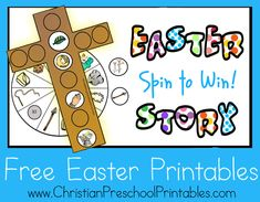 Resurrection Egg Printables!  A Game to take children through the Easter Story.