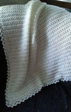 Christening afghan by afghansandmore1 on Etsy
