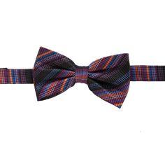 Orange Multistripe Bow Tie from www.PaulCostelloeMan.com