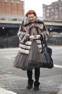 Lynn Yaeger...An Unknown Quantity | New York Fashion Street Style | ストリートスナップ