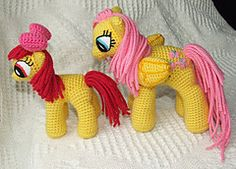 Ravelry: My Little Pony: Friendship is Magic School Age Ponies pattern by Knit One Awe Some
