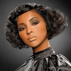 Black Hair Stylesblack Women Hair Styles Bridal Stop - sell ... Crown Hairstyles, Vintage Hairstyles, Wedding Hairstyles, Black Hairstyles, Curly Hair Styles, Natural Hair Styles, Natural Curls, 1930s Hair, Gatsby Hair