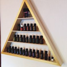 DIY Essential oil holder shelf. Essential Oil Holder, Essential Oils Cleaning, Essential Oil Storage, Doterra Essential Oils, Essential Oil Blends, Doterra Oil, All Natural Cleaners, Chamomile Essential Oil, Healing Oils