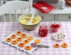 Miniature Cherry Thumbprint Cookie Set by CuteinMiniature on Etsy, $38.00