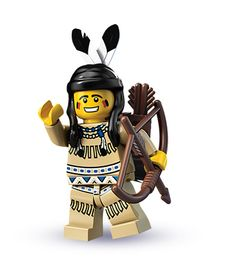 Tribal Hunter, was released in 2010 within Series 1 LEGO Minifigures, is a hugely detailed Minifigure with a feathered hair piece, Bow and Arrows and superb printing detail. Supplied sealed in original unopened Minifigure packet