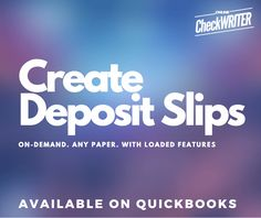 Create Deposit Slip online for Any Bank, Anytime Order Checks Online, Bank Deposit, Quickbooks Online, Business Checks, App Development Companies, Book Layout, Check Printing, Financial Institutions, Cloud Based