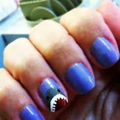 10 Best Shark DIY Crafts  Ideas :: SHARK NAILS!!!