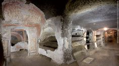 St. Tecla Catacombs in Rome, Italy