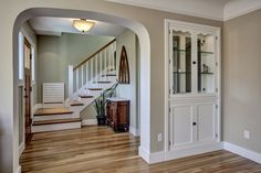 In this second story addition, I realized that if we didn't stack the new stair above the basement staircase that it would allow for not only a better second floor layout but a generous foyer