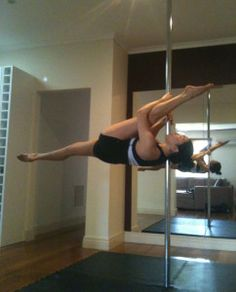 Andrea James Lui pole tricks Shoulder Mount Splits - really good blog post with lots of tips and tricks in it