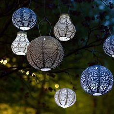 Outdoor Solar Lanterns, Tree Lanterns, Outdoor Trees, Lanterns Decor, Decorative Lanterns, Decorative Lighting, Outdoor Battery Lights, Outdoor Decorative Lights, Outdoor Pergola