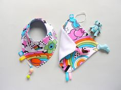 Baby Shower Gift Set Baby Girl Dribble bib and Baby by pupaforkids