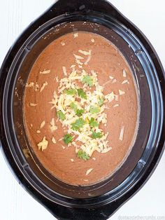 Want the classic flavor of refried beans in one easy step? Crock pot refried beans are your answer!