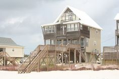 Weddings, family reunions, a gathering of friends . . . this 5BR/sleeps 16 #vacation house in Fort Morgan, AL will fit your needs. Laughing Gull offers a private pool, beautiful views, open floor plan, and wi-fi. Three bedrooms are gulf-front, and the master bedroom has a private balcony as well as a Jacuzzi tub and separate shower. An outdoor shower with hot and cold water makes cleanup convenient after a day of relaxation and fun at the #beach. http://www.meyerre.com/house/Laughing_Gull