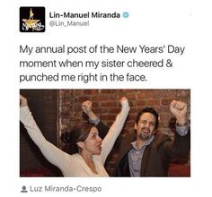Lin Manuel Miranda and Sister Musical Hamilton, Hamilton Broadway, Alexander Hamilton, Lin Manual Miranda, Overwatch, Funny Memes, Hilarious, It's Funny, Funny Tweets