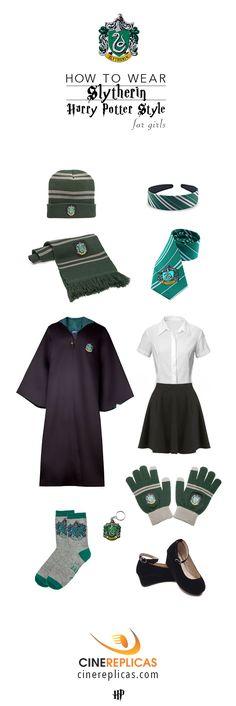 Slytherin Harry Potter Style for Girls #HarryPotter #Slytherin www.cinereplicas.com