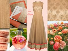 Coral, peach & nude mood board - Soft, Eclectic & Chic for the Subtle Sophisticated Fashionista - LuxShoppe.com Inspiration Boards, Style Inspiration, Asian Bridal, Online Boutiques, Bridal Dresses, Wedding Events, Designer Dresses, Coral, Peach
