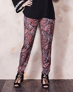 Print Stretch Jersey Harem Trouser Short | Simply Be