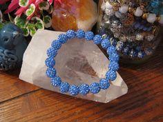 "New 8"" Light Blue Shimmer Stack Cuff Shamballa Crystal Ball Rustic Bracelet | Jewelry & Watches, Fashion Jewelry, Bracelets | eBay!"