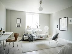 'Minimal Interior Design Inspiration' is a weekly showcase of some of the most perfectly minimal interior design examples that we've found around the web - all Interior, Home Decor Bedroom, Grey Decor, White Washed Floors, Interior Design Examples, House Rooms, Minimal Interior Design, Living Room Inspiration, Interior Design