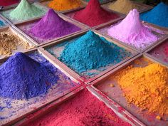 Pigments for sale on market stall, Goa, India. Thanks to everyone for the kind comments. When I saw all these colours I just couldn't resist getting a photo. Taken with a point and shoot Canon IXUS.  View large on black  Explore #139 on Wednesday, September 26, 2007  -Added to the Cream of the Crop pool as most favorited.  Taken in Anjuna, Goa, India [?]  See more of my photos here: www.danbrady.co.uk/
