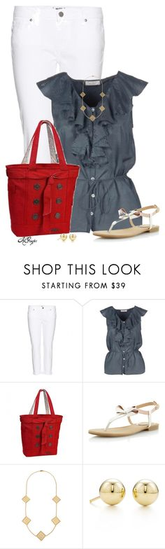 """""""OGIO Tote Contest"""" by kginger ❤ liked on Polyvore featuring Paige Denim, Margit Brandt, Head Over Heels by Dune, Tory Burch and Tiffany & Co."""
