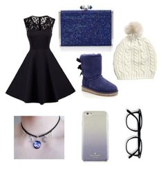 """Midnight"" by molly-ava ❤ liked on Polyvore featuring UGG, Lazuli and Kate Spade"