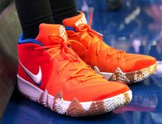 """f4b496966fef Jayson Tatum Hits the Court Sporting the Nike Kyrie 4 """"Wheaties""""  Uncle Drew  would be proud."""