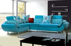 2016 Blue sofa, A trendy and magical choice for your interior design Sofa Chair, Sofa Set, Beautiful Sofas, Living Room Sofa, Sofa Design, Interior Design Living Room, Vans, Chairs, Sectional Sofas