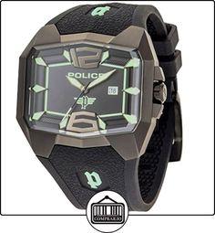 Police GS-PL-30THANN-JW - Reloj analógico de cuarzo para hombre con correa de silicona, color negro de  ✿ Relojes para hombre - (Gama media/alta) ✿