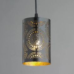 punched tin lighting - Google Search