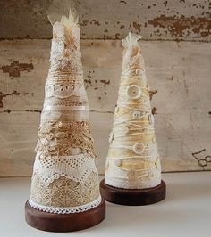 white lace christmas tree tabletop decoration with by PeachParlor