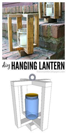 That's My Letter: DIY Hanging Lantern with free plans