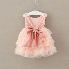 Pink Roseate Layered Tulle Dress