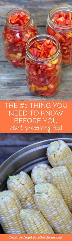 Before you start food preserving you there's something very important you should know. This changed everything for me! Canning Tips, Canning Recipes, Easy Canning, Canning Food Preservation, Preserving Food, Fruits And Veggies, Vegetables, Canned Food Storage, Survival Food