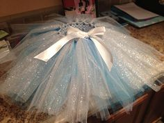 Tutu for spirit day and JHS or HS. (White, turquoise, and silver).