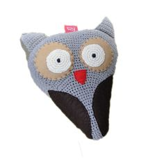 OWL saddle cover, crocheted