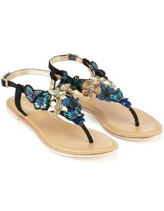 the Styling Up stylists recommend: Midnight butterfly sandals from Accessorize