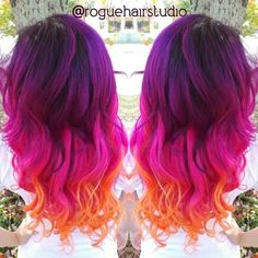 purple sunset hair