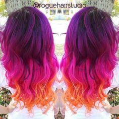 purple sunset hair
