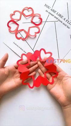 Cool Paper Crafts, Paper Flowers Craft, Paper Crafts Origami, Fun Crafts, Diy Crafts Hacks, Diy Crafts For Gifts, Creative Crafts, Valentine Crafts For Kids, Valentines Diy
