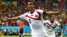 RECIFE, BRAZIL - JUNE 29: Bryan Ruiz of Costa Rica celebrates scoring his team's first goal during the 2014 FIFA World Cup Brazil Round of 16 match between Costa Rica and Greece at Arena Pernambuco on June 29, 2014 in Recife, Brazil. (Photo by Ian Walton/Getty Images)  2014 FIFA World Cup Brazil™: Costa Rica-Greece - Photos - FIFA.com