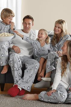 Ski School Penguin Family Christmas Pajamas ((looked into getting some of these (matching like these but not THESE) and they were crazzzzy expensive.  Hope to find some other way for us all to match Christmas morning:):)...))