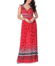 Red Dot Maxi Dress - Plus Too