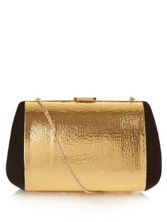 Merion suede and leather clutch bag | Nina Ricci | MATCHESFASHION.COM